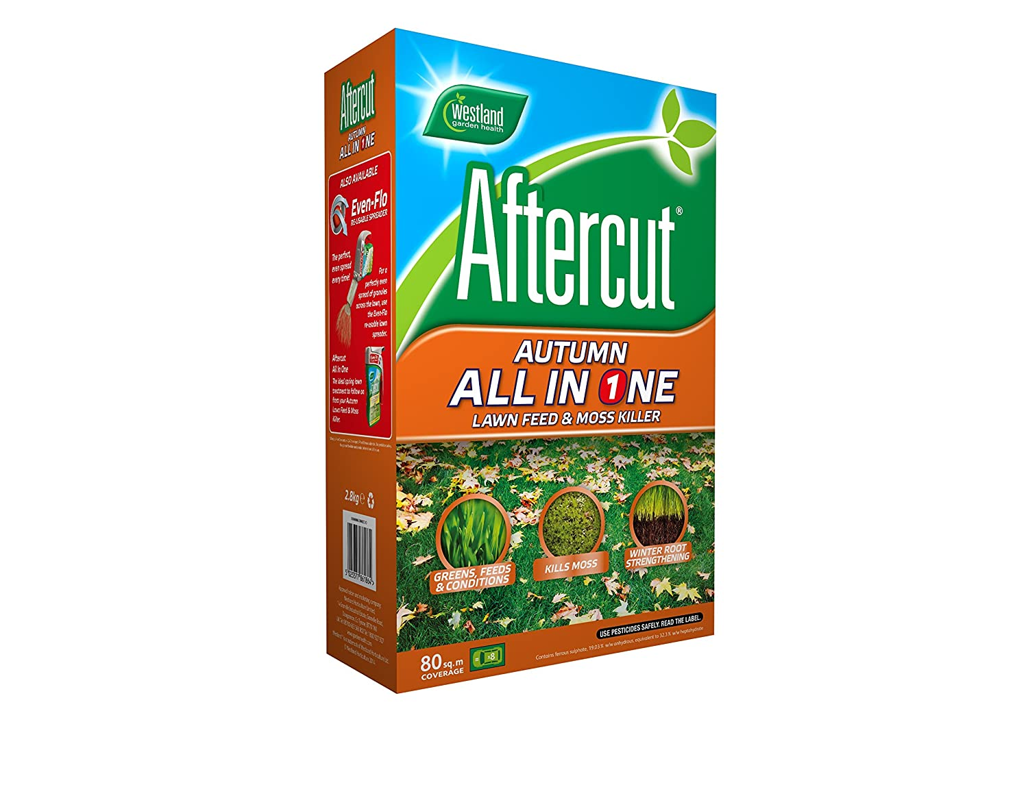 Aftercut Autumn All-in-One Lawn Feed and Moss Killer, 80 sq m, 2.8 kg Westland