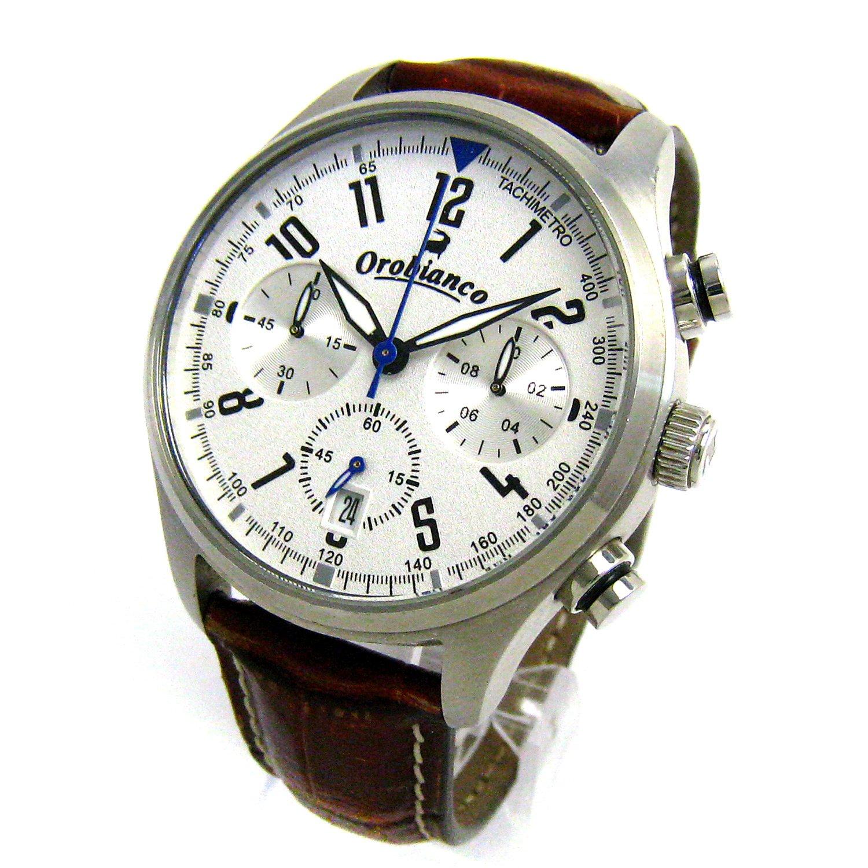 [オロビアンコ]Orobianco 腕時計 OR-0021 タキメトロ クロノ シルバー文字盤 メンズ 中古 B07BQSVZ2C