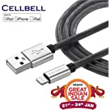 CELLBELL® Apple Certified Lightning to USB Cable - 6 Feet (2 Meters) - Black