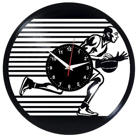 EVEVO Baloncesto Reloj De Pared Vintage Accesorios De Decoración ...
