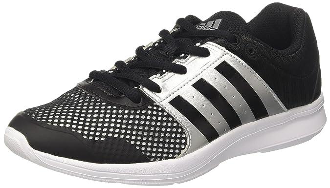 adidas Essential Fun II W, Chaussures de Running Femme, Multicolore (Core Black/Core Black/Silver Met.), 37 1/3 EU