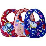 Littly Velcro Bibs Combo (Pack of 3, Multicolor)