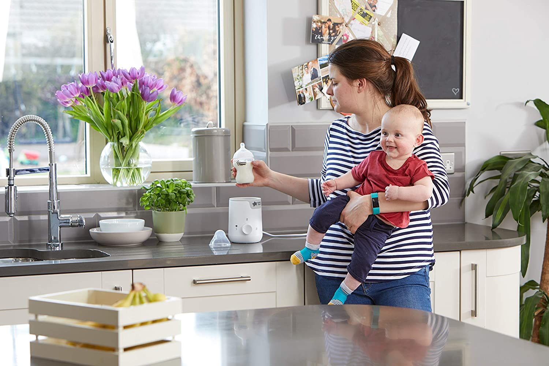 Tommee Tippee Easi-warm Fl/äschchen und Erw/ärmer f/ür Babynahrung Wei/ß schnelle Aufw/ärmzeit und 2 Temperaturstufen