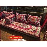Arabic Floor Seating Cover Set 2m Ash Grey Ottoman