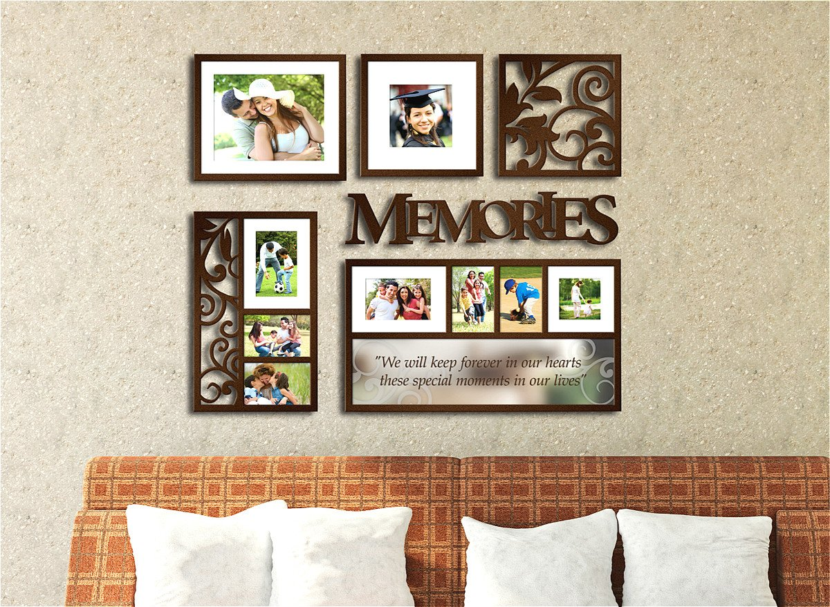 Picture Frame Set on Wall Art Decoration Sticker in Family Living Room and Bedroom (Memories) by F&A=R