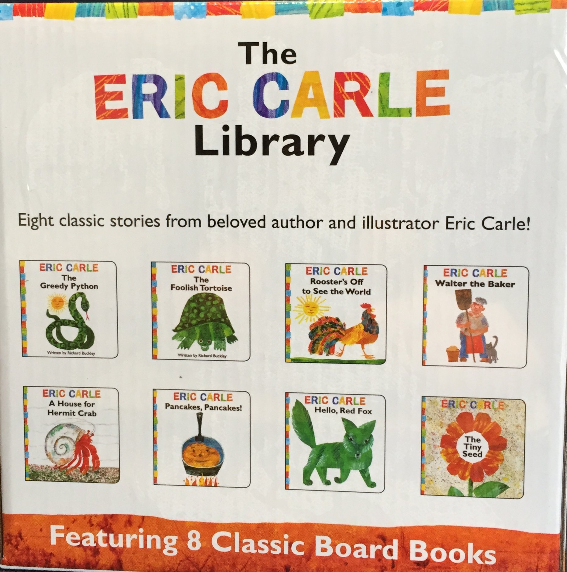 the eric carle library featuring 8 classic board books boxed set