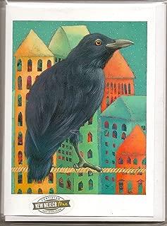 "product image for Santa Fe Artist Lori Faye Bock Art Note Card Portfolio - Raven (""The Wonderer"" -12 Cards)"