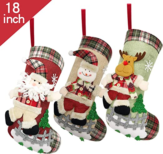 CLEARANCE Christmas Characters Hanging Christmas Decorations x 4
