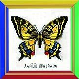 Riolis HB096 Kreuzstich-Set Swallowtail Butterfly, Baumwolle, Mehrfarbig, 13 x 13 x 0.1 cm