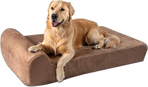 "Big Barker 7"" Pillow Top Orthopedic Dog Bed for Large and Extra Large Breed Dogs (Headrest Edition)"