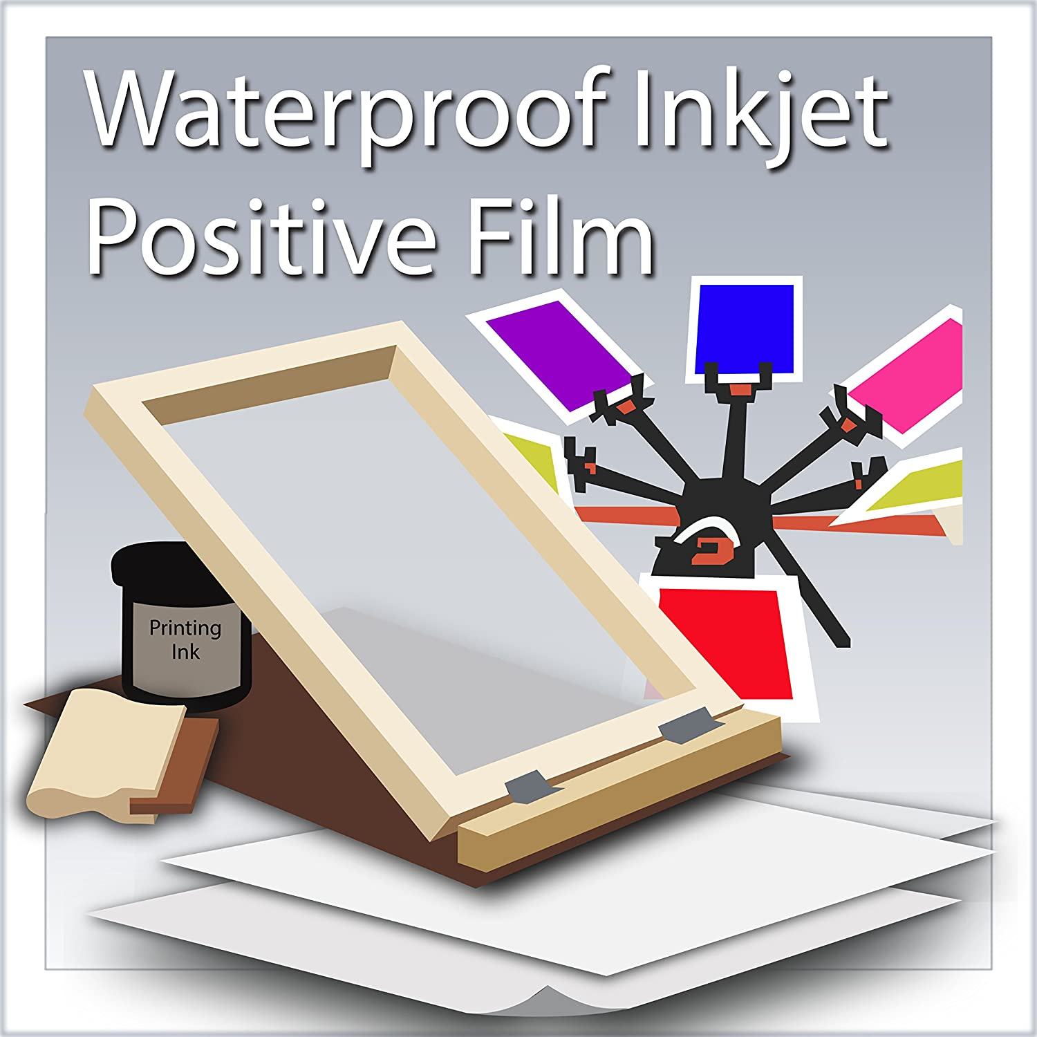 Waterproof Inkjet Positive Film For Silk Screen 62 x 100 Roll