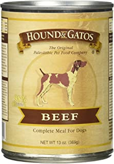 Hound & Gatos Grain Free Beef Canned Dog Food - 13 oz (12 can case