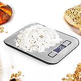 Duronic Kitchen Scales KS1007 Digital Display 5KG Compact Slim Design Kitchen Scale