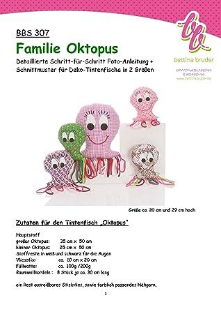 BBS 307 Schnittmuster für FAMILIE OKTOPUS Krake Tintenfisch ...