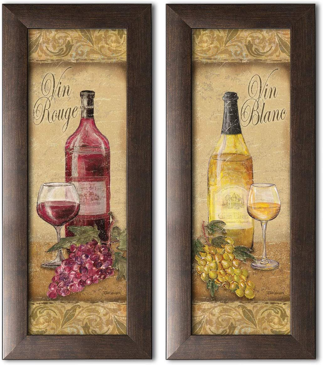 Amazon Com Gango Home Decor 2 Vintage Tuscan White And Red Wine Bottle And Grape Set Two Brown Framed 6x18in Prints Ready To Hang Posters Prints,Bedroom Ideas For Girls