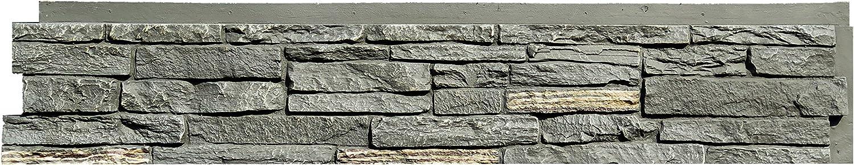 NextStone Polyurethane Faux Stone Panel - Slatestone - Midnight Ash (8 Panels per Box)