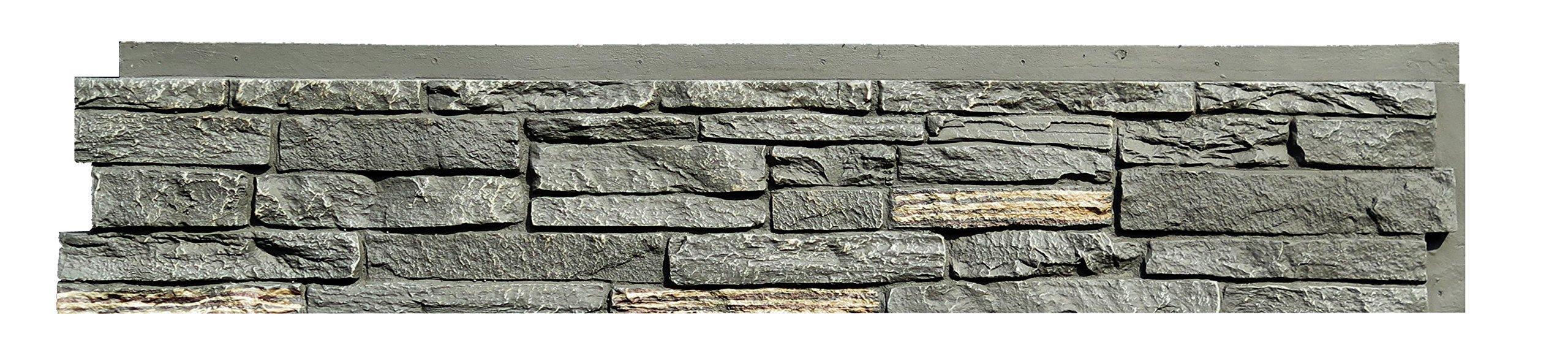 NextStone Slatestone Panel Midnight Ash (8 Panels Per Box)(17.12 Sq. Ft. Per Box)