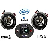 Pagaria PG8307 Waterproof Bike Music System with Bluetooth and FM Radio (Black)