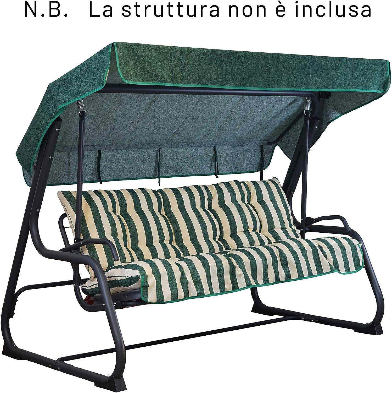 Import Cuscini di Ricambio per Dondolo da Giardino A Tre POSTI Trapuntato