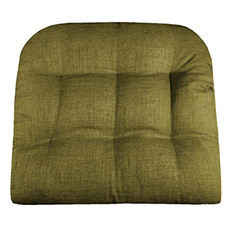 Amazoncom Patio Chair Cushion Rave Sage Green Solid Color