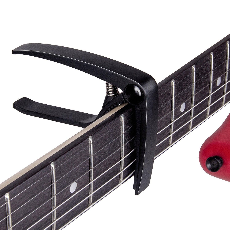 Mugig cejilla para guitarra Adecuado para guitarras eléctricas y acústicas de clip de aluminio fácil de usar Fuerte primavera sin vibraciones: Amazon.es: ...