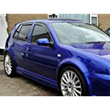 06-09 VY60840 Heko Wind Deflectors Tinted Front and Rear Window Rain Guards 4pc Set for Fiat Grande Punto