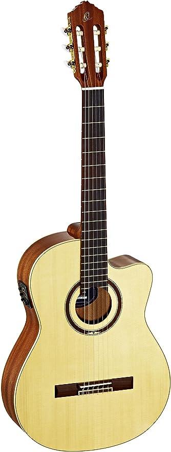 Ortega RCE138SN - Guitarra electroacústica de 4/4 (mástil estrecho ...