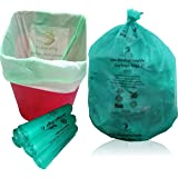 NaturePac Garbage Bags Biodegradable For Kitchen,Office,Small Size (Green,43cmx51cm,17inchx20inch,180 Bag)