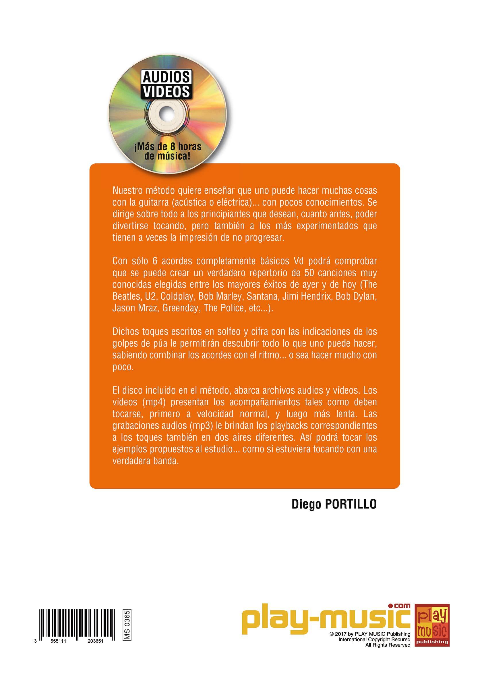 50 canciones con 6 acordes - 1 Libro + 1 Disco Audios/Vídeos ...