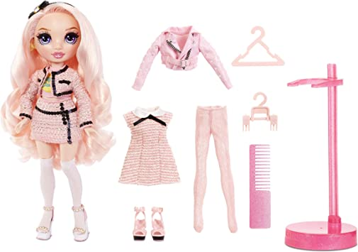 Rainbow High Bella Parker – Pink Fashion Doll with 2 Complete Doll Outfits to Mix & Match and Doll Accessories, Great Gift for Kids 6-12 Years Old