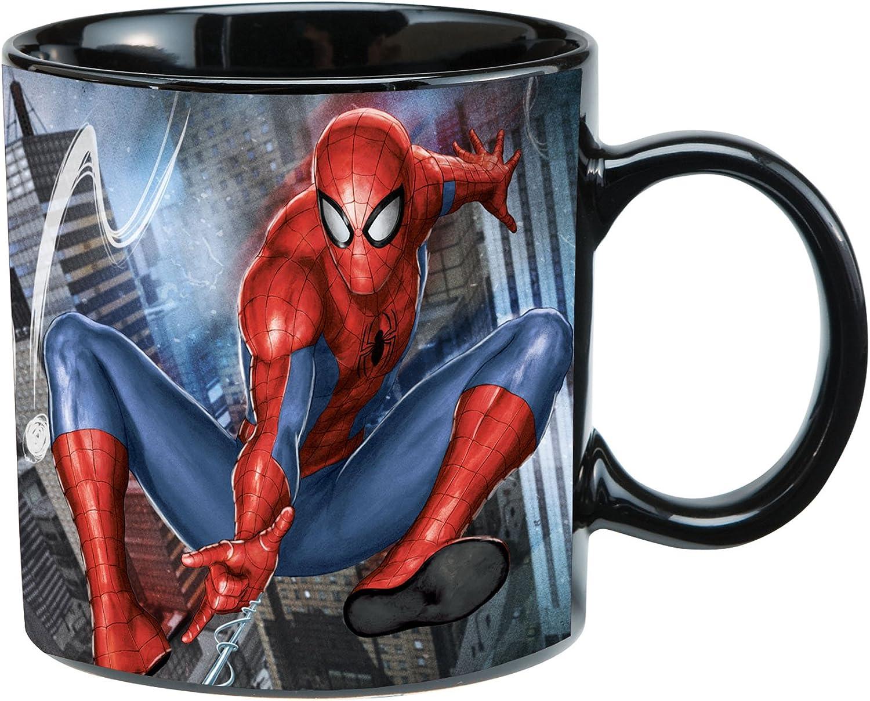 Vandor Marvel Spider-Man 20 Oz Ceramic Heat Reactive Mug -