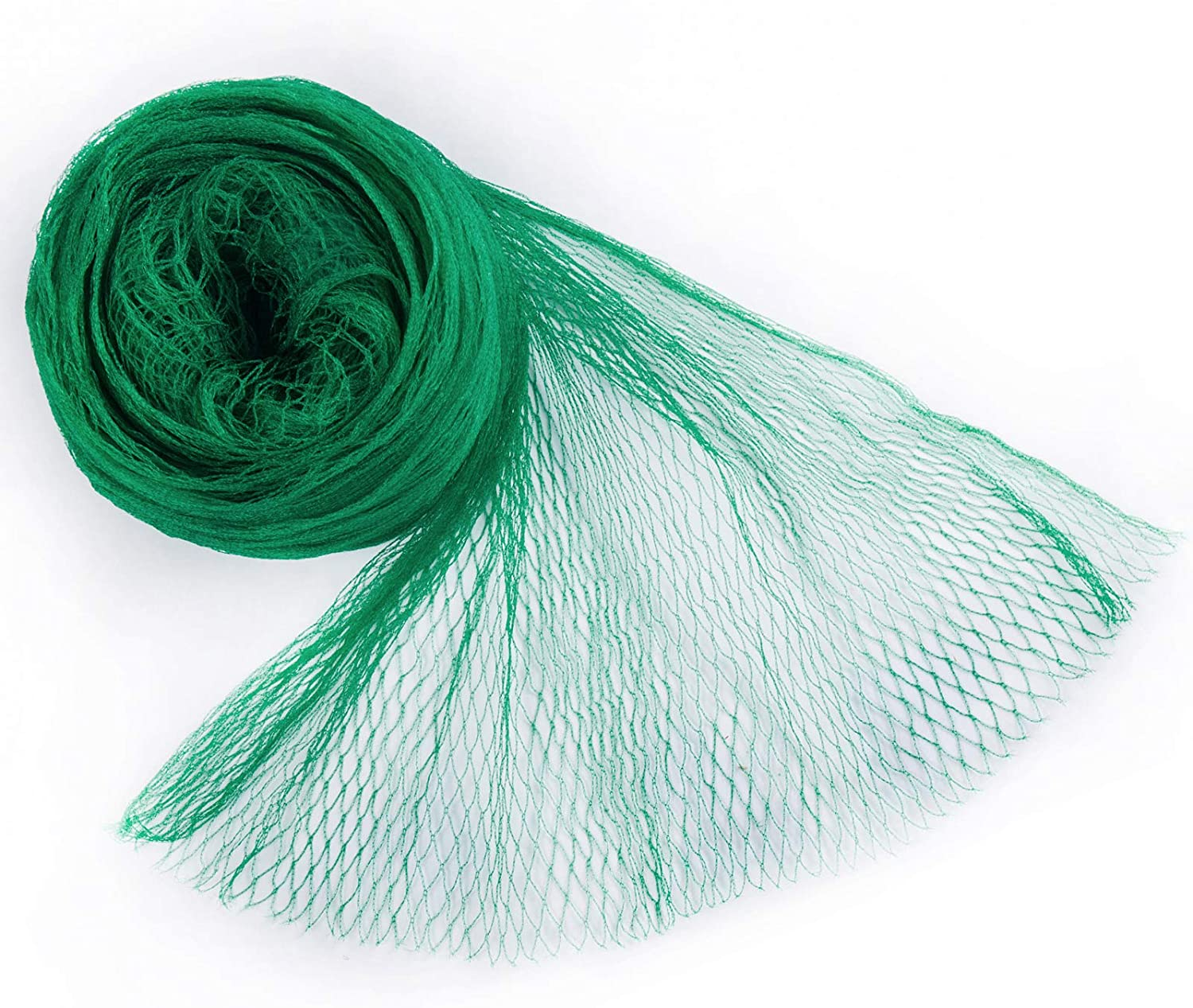 Coolrunner Anti-Bird Netting,16.4 X 13 FT Bird Net, Nylon Garden Netting with 100Pcs Cable Ties Protect Garden Farm Fruit and Vegetables from Birds, Deer(Green)