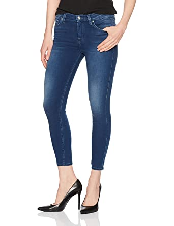 d3626eef0 7 For All Mankind Women's The Gwenevere Ankle Skinny Jean, Featherweight  Cool River 25