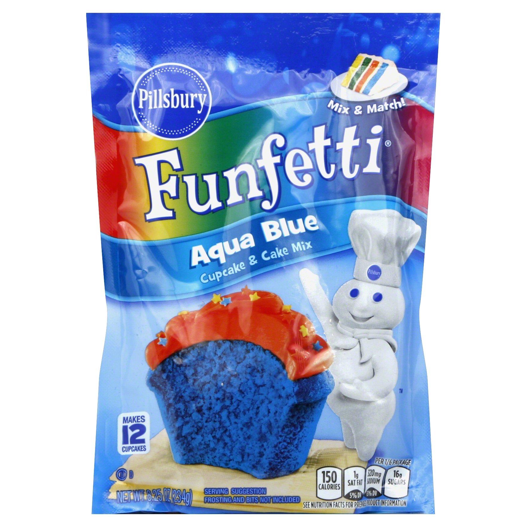 Aqua Blue Funfetti Cake Mix