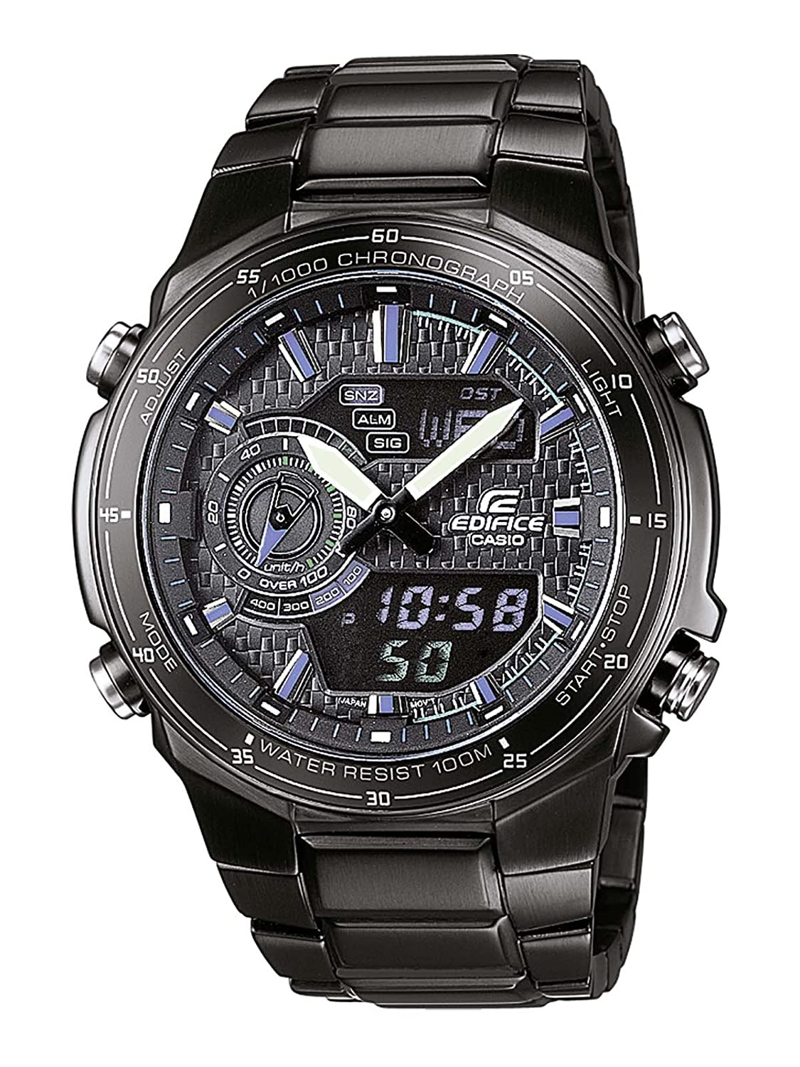 Casio Edifice Herren-Armbanduhr Analog - Digital Quarz EFA-131BK-1AVEF