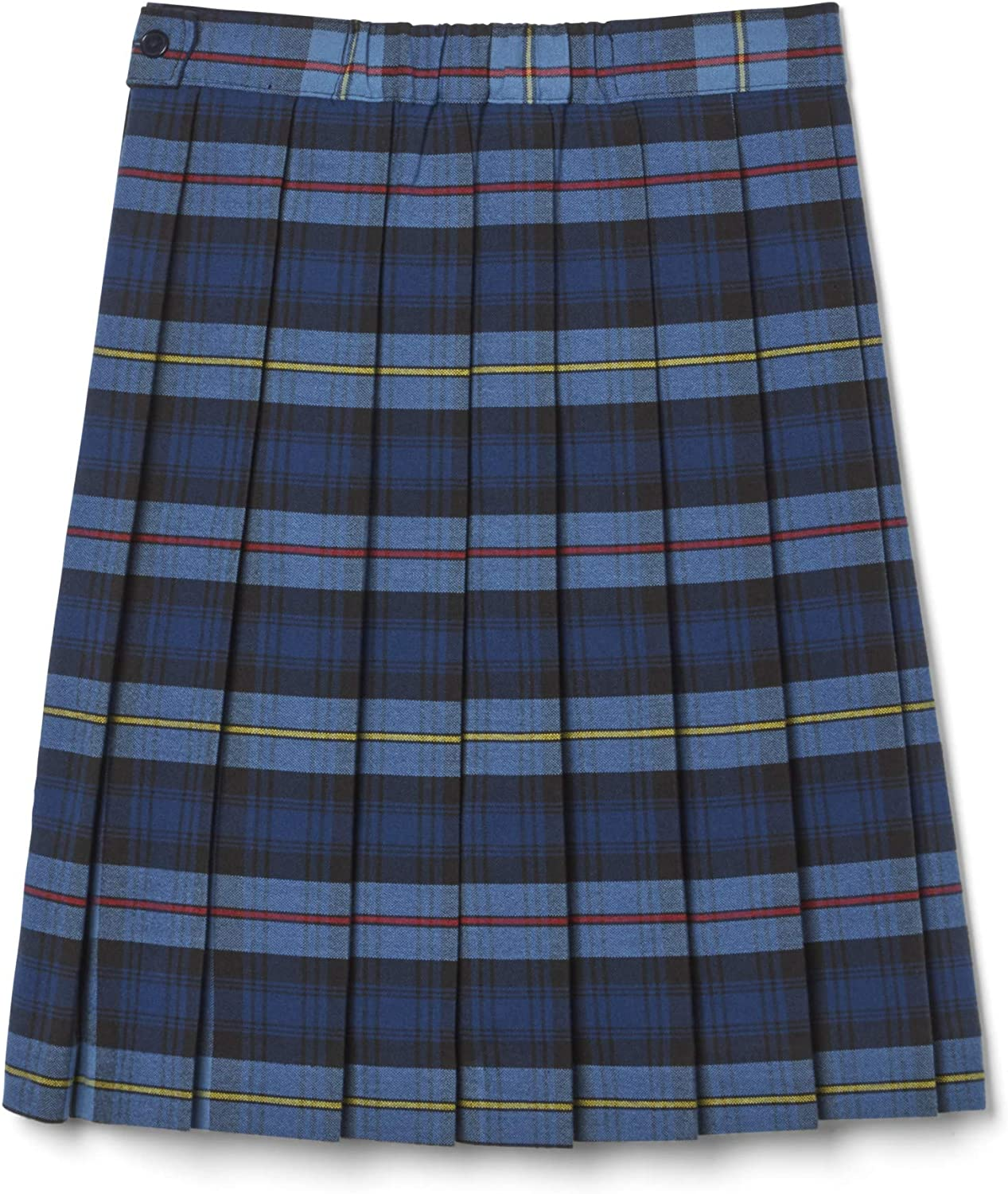 12 Blue//Red French Toast Big Girls Plaid Pleated Skirt