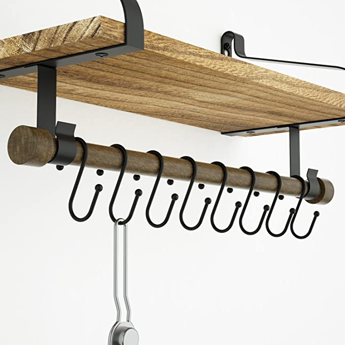 SRIWATANA mensole da parete per cucina – Cucina di legno rustico ...