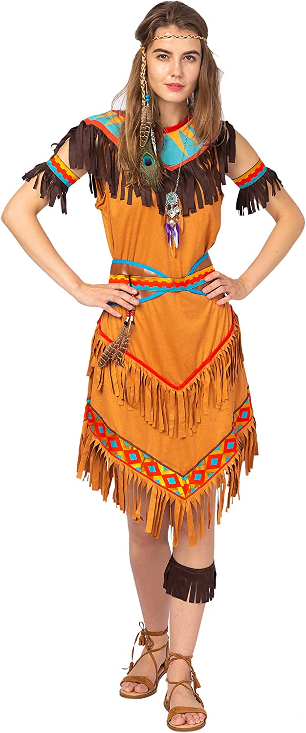 Spooktacular Creations Native American Classic Indian Costume for Women with Indian Princess Accessories Adult