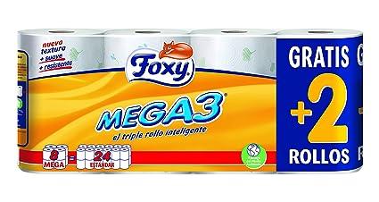 foxy carta igienica  Foxy carta igienica decorato - 7 Confezioni Da 8 Pezzi:  ...