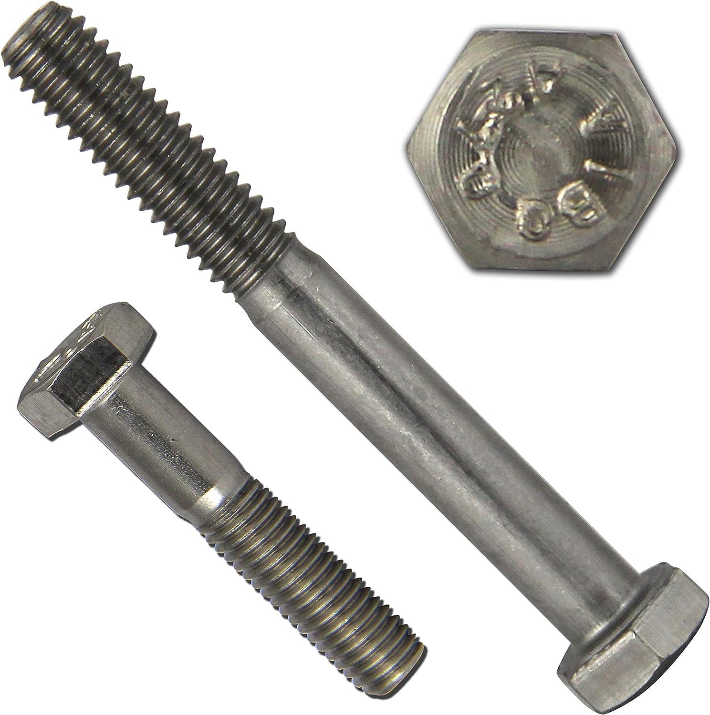 PROTECH 100 St/ück Sechskantschrauben mit Schaft M12x180 DIN 931 aus rostfreiem Edelstahl A2 Maschinenschrauben mit Teilgewinde ISO 4014