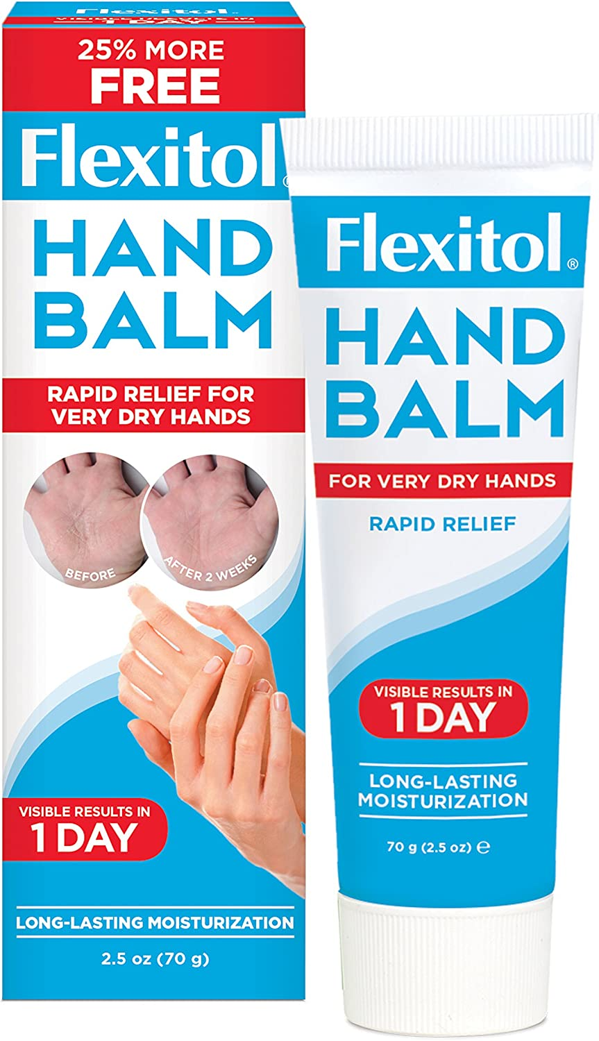 Flexitol Hand Balm, 2.5 Ounce Tube (Pack of 2), Rich Moisturizing Hand Cream for Fast Relief of Dry, Chapped, or Cracked Skin