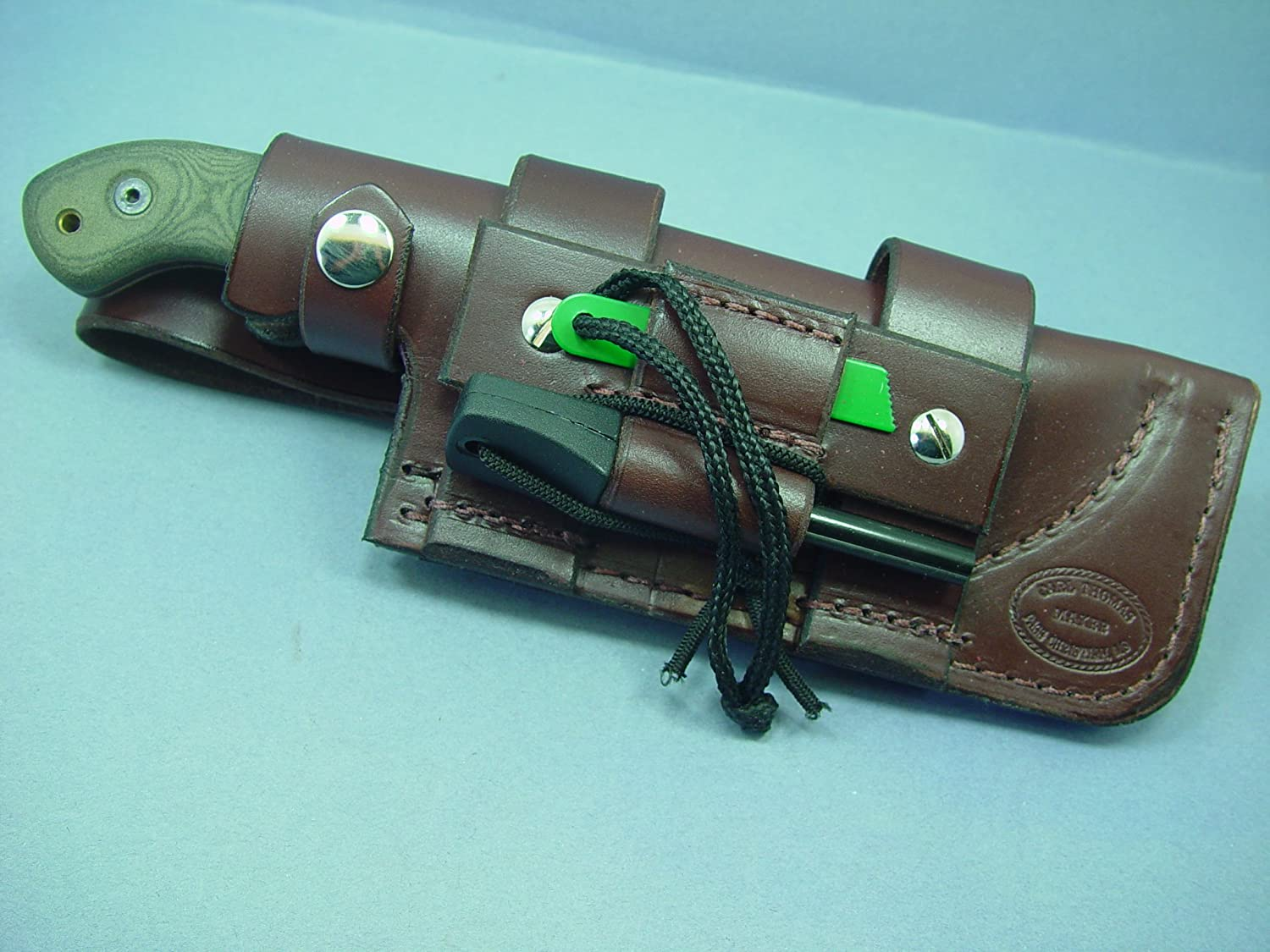 Amazon Com New Custom Made Brown Leather Horizontal Sheath For The Tom Brown Tracker Knife Q 4212 Sports Outdoors