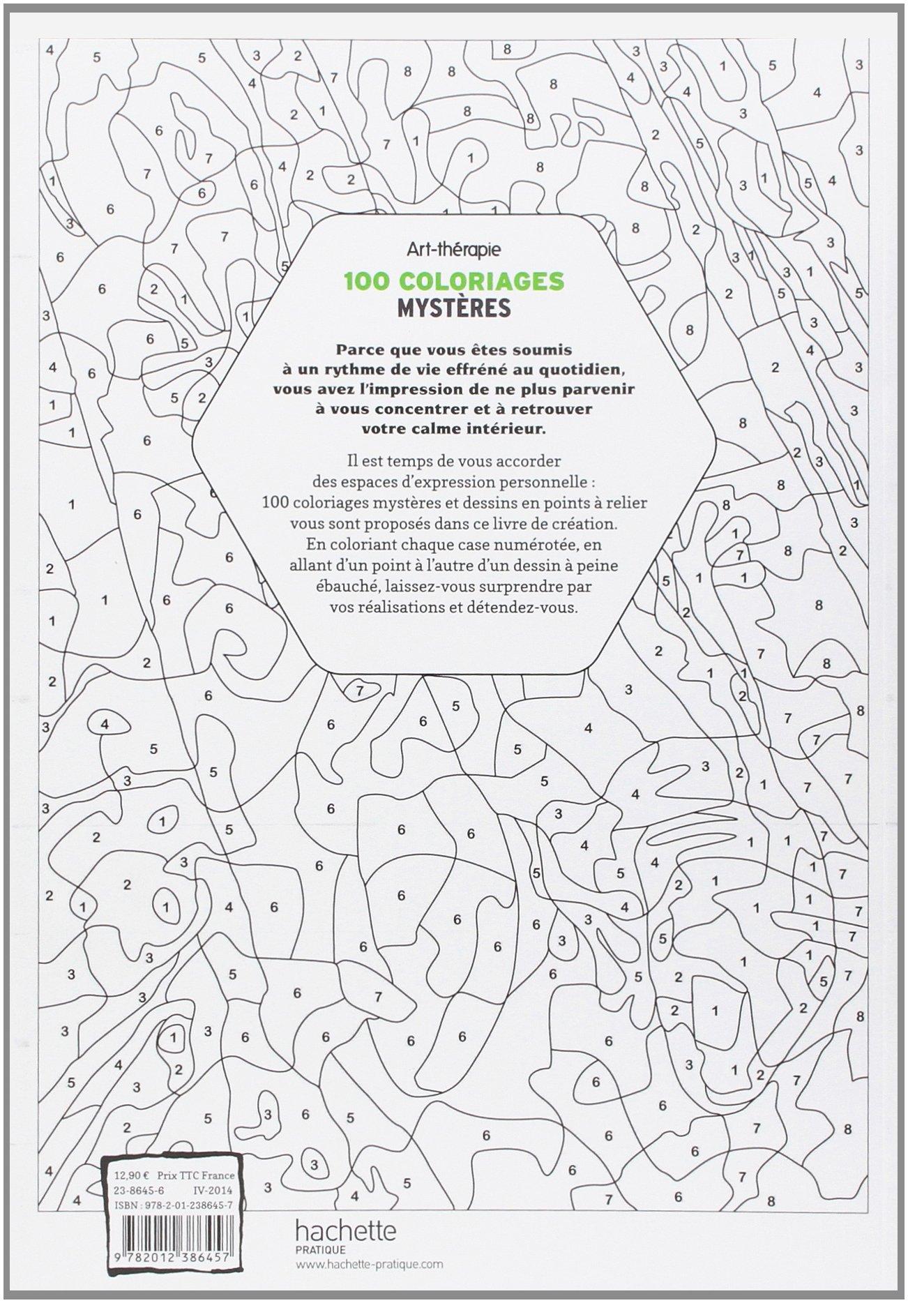 100 Coloriages Mysteres Art Therapie Amazon Fr Jeremy Mariez Livres