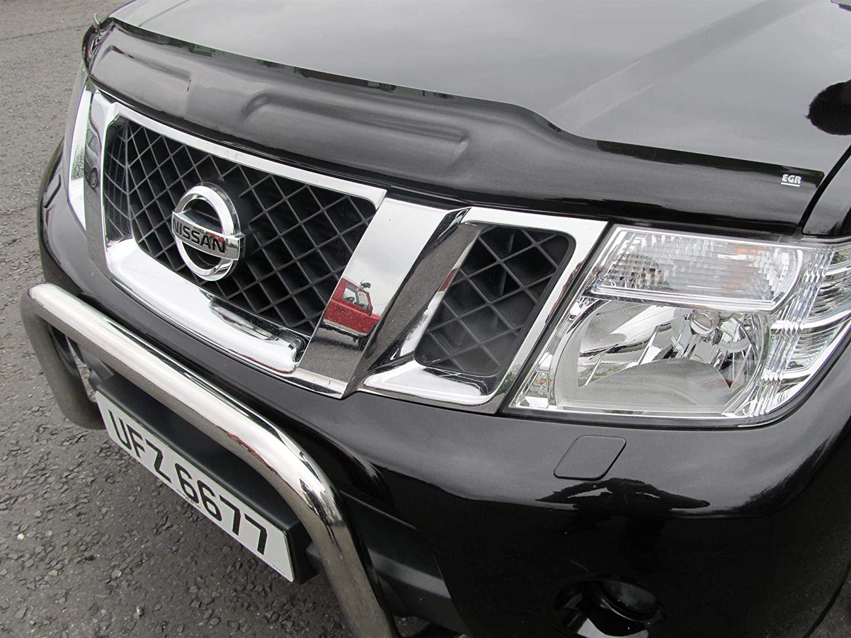 Dark Smoke Nissan Navara D40 2009-2015 Bonnet Guard Protector Bug Shield
