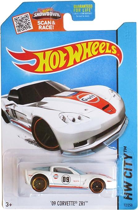 09 Corvette ZR1 2015 HW City Hot Wheels Gulf Oil Light Blue and Orange Die-Cast Vehicle #12//250