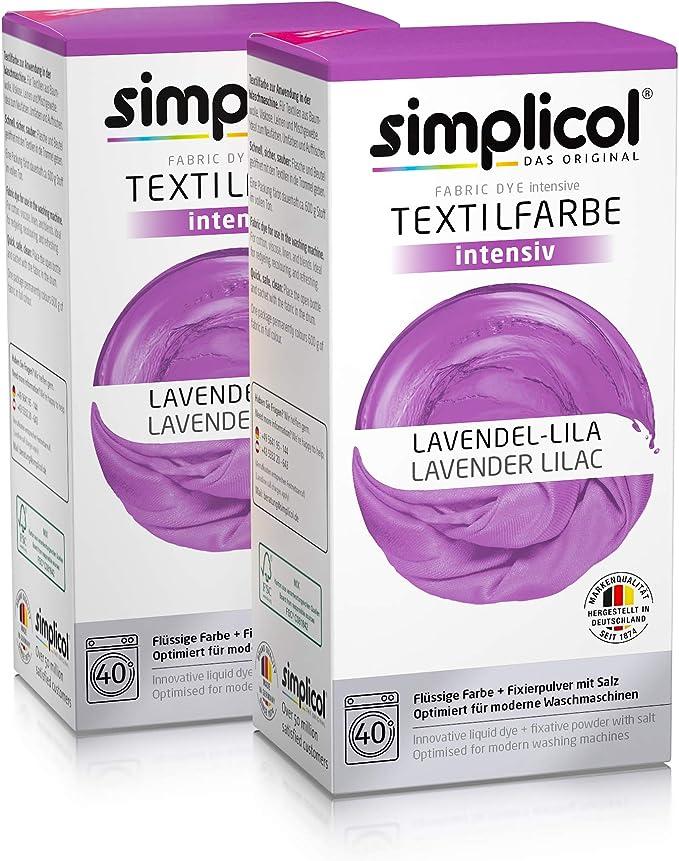 Simplicol Kit de Tinte Textile Dye Intensive Lila: Colorante para ...