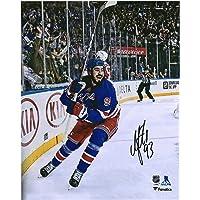 "Mika Zibanejad New York Rangers Autographed 8"" x 10"" 5-Goal Game Celebration Photo… photo"
