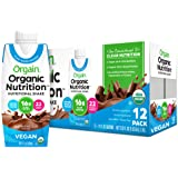 Orgain Organic Vegan Plant Based Nutritional Shake, Smooth Chocolate - Meal Replacement, 16g Protein, 21 Vitamins & Minerals,