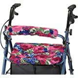 "NOVA Rollator Walker Seat & Back Cover, Removable and Washable, ""English Garden"" Design"