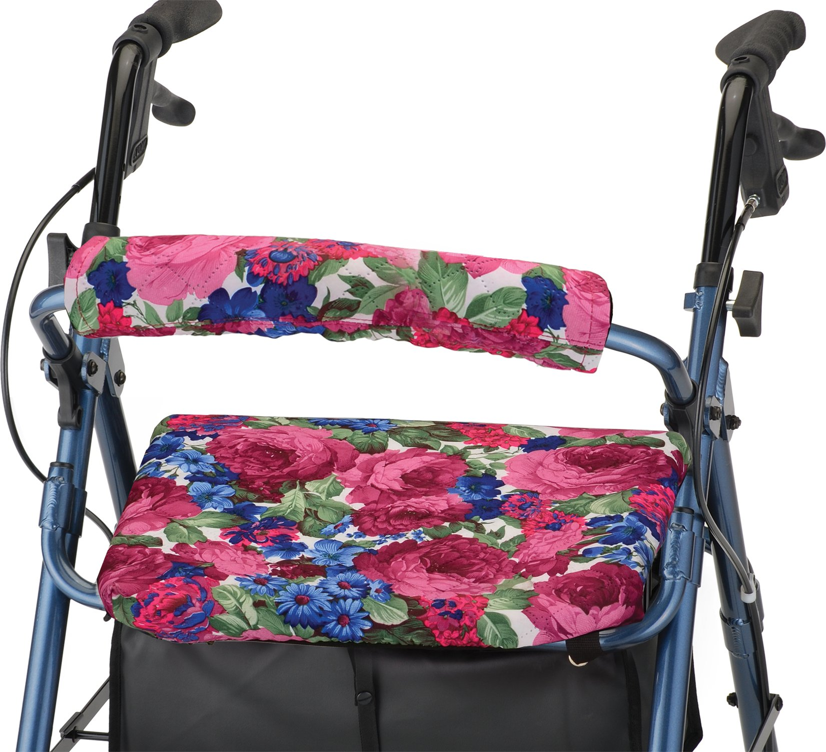 NOVA Rollator Walker Seat & Back Cover, Removable and Washable, ''English Garden'' Design by NOVA Medical Products